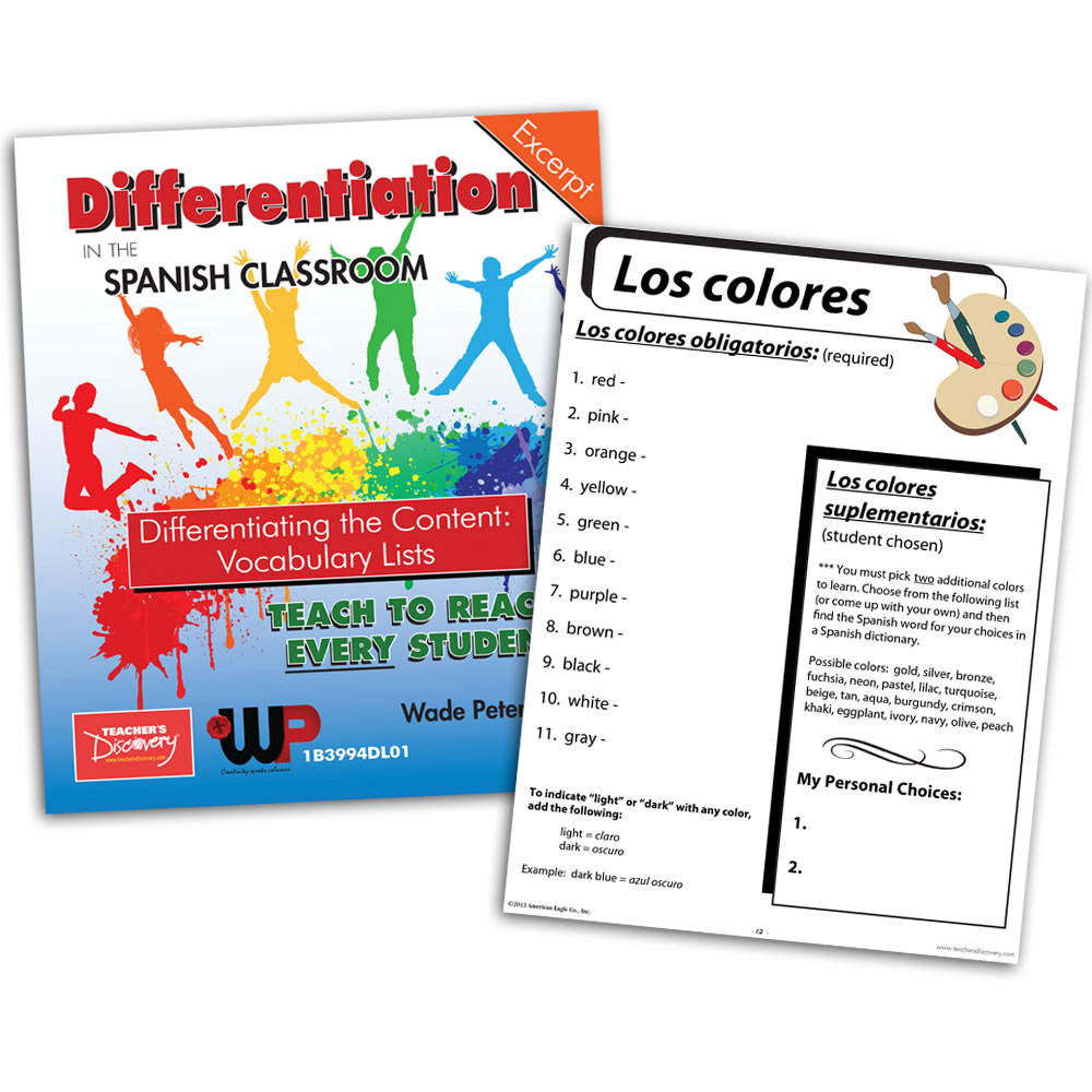Differentiating the Content: Vocabulary Lists - Book Excerpt Download