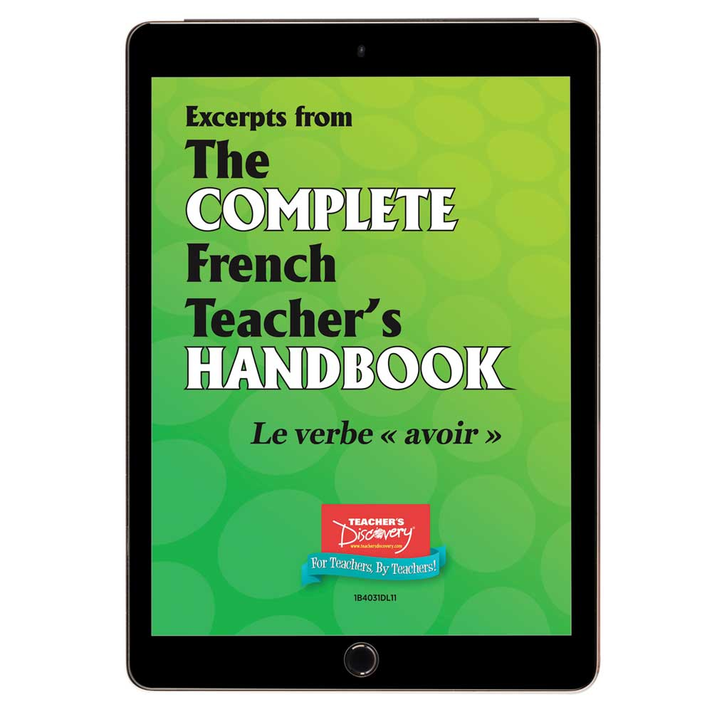 Le verbe avoir - French - Book Excerpt Download