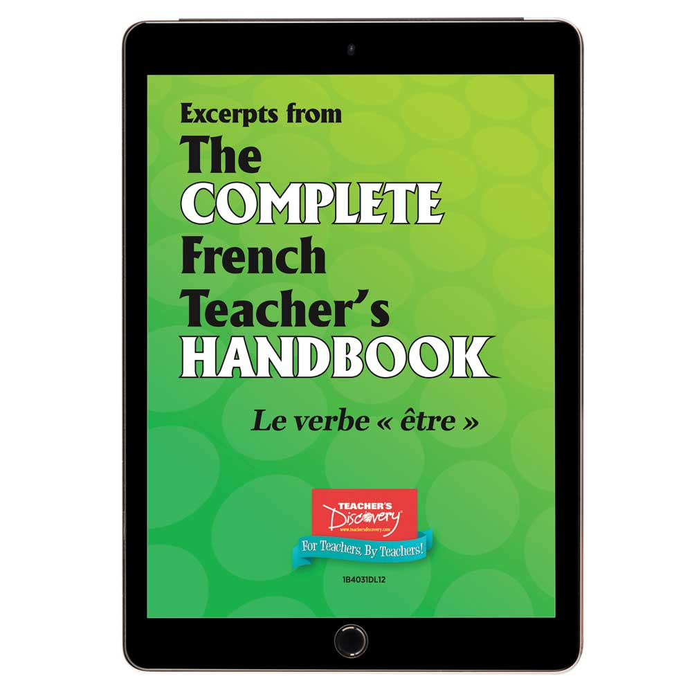 Le verbe être - French - Book Excerpt Download
