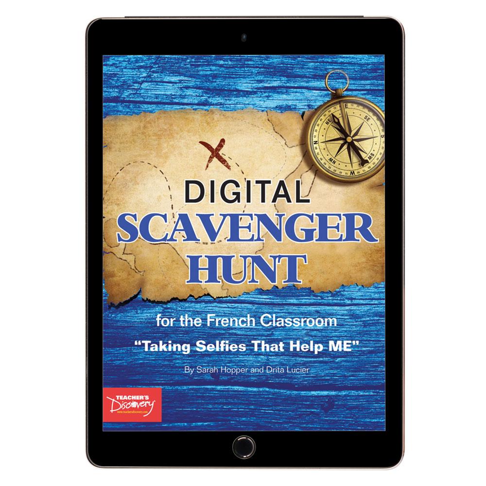 French Digital Scavenger Hunt Book