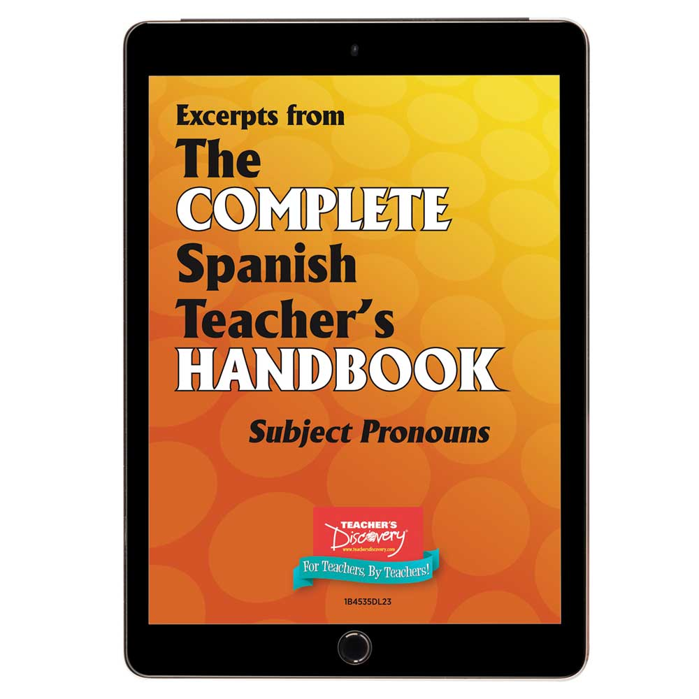Subject Pronouns - Spanish - Book Excerpt Download