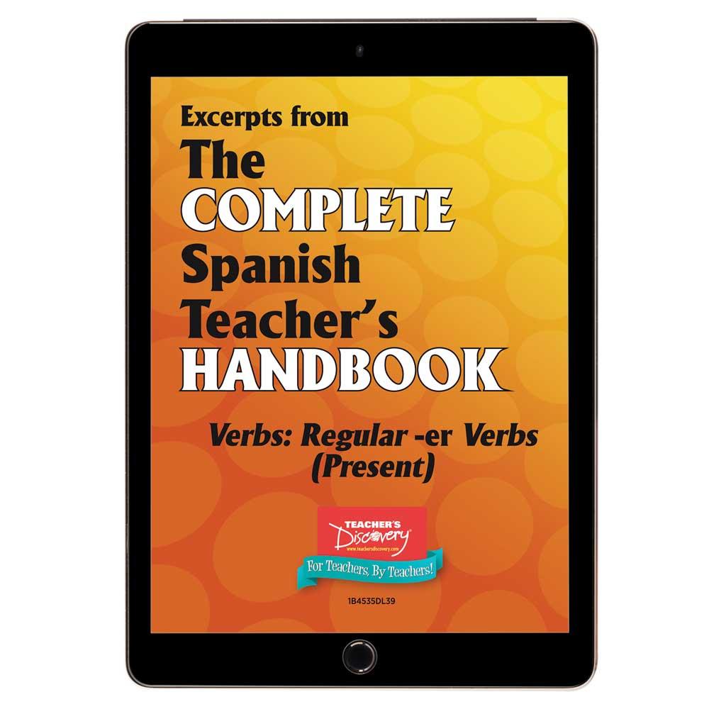 Verbs: Regular -er Verbs (Present) - Spanish - Book Excerpt Download