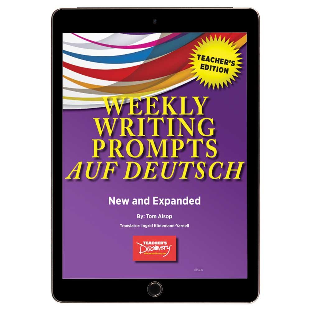 Weekly Writing Prompts auf Deutsch Level 1 Book