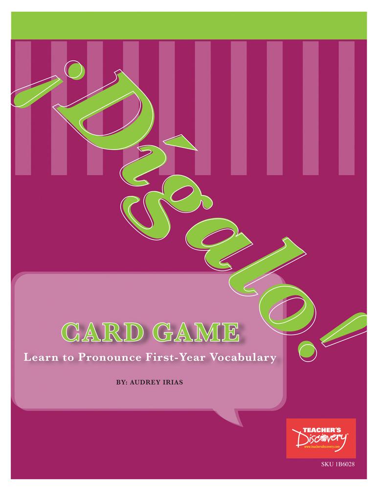 ¡Dígalo! Reproducible Spanish Card Game Book Download