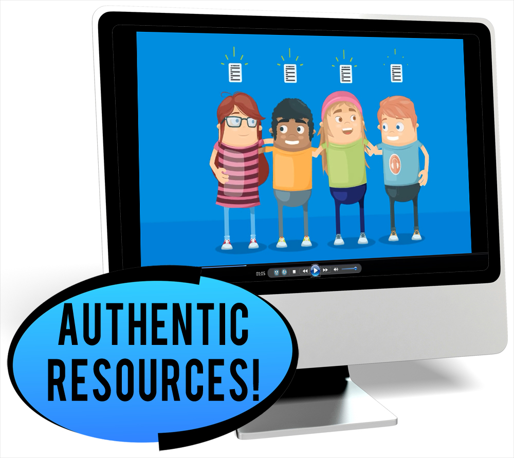 Derechos de niños Novice-Low Spanish IPA Pack - DIGITAL RESOURCE DOWNLOAD  - Hybrid Learning Resource