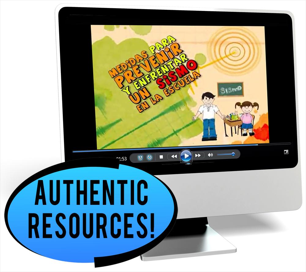Los desastres naturales Novice-High Spanish IPA Pack - DIGITAL RESOURCE DOWNLOAD  - Hybrid Learning Resource