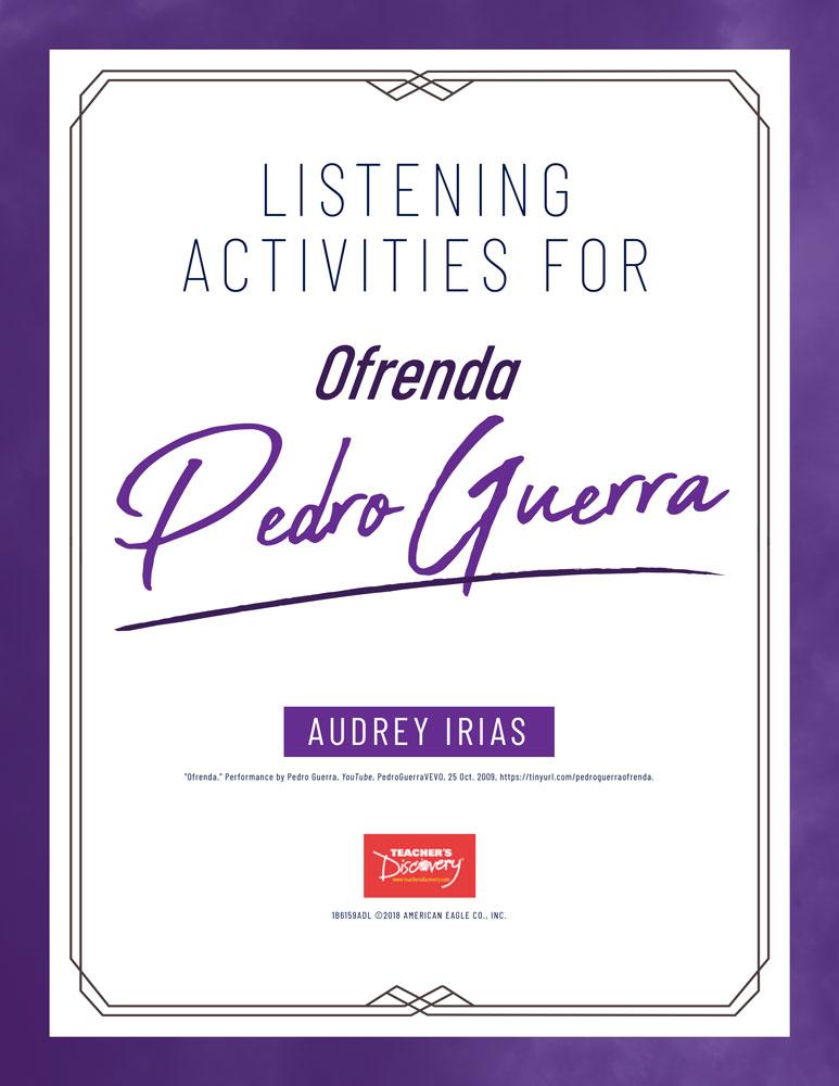 Día de los Muertos Song (Pedro Guerra) Listening Activities Download