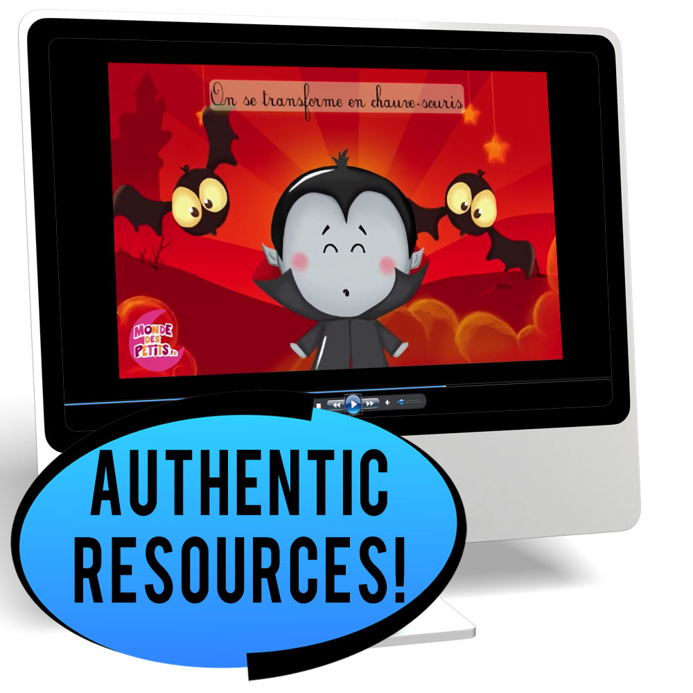L'Halloween Novice/High French IPA Pack - DIGITAL RESOURCE DOWNLOAD   - Hybrid Learning Resource