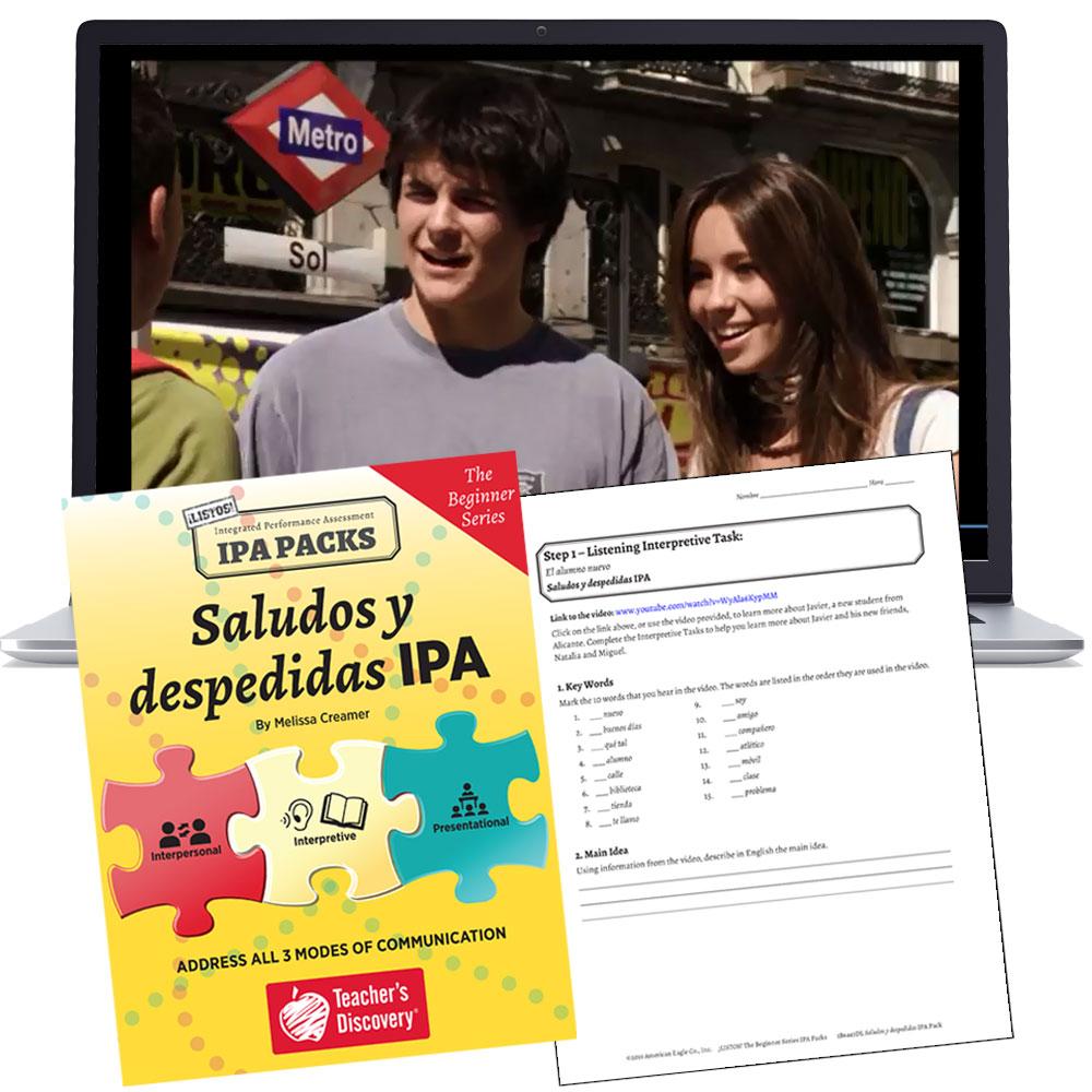 Saludos y despedidas: The Beginner Series Spanish IPA Pack - DIGITAL RESOURCE DOWNLOAD   - Hybrid Learning Resource