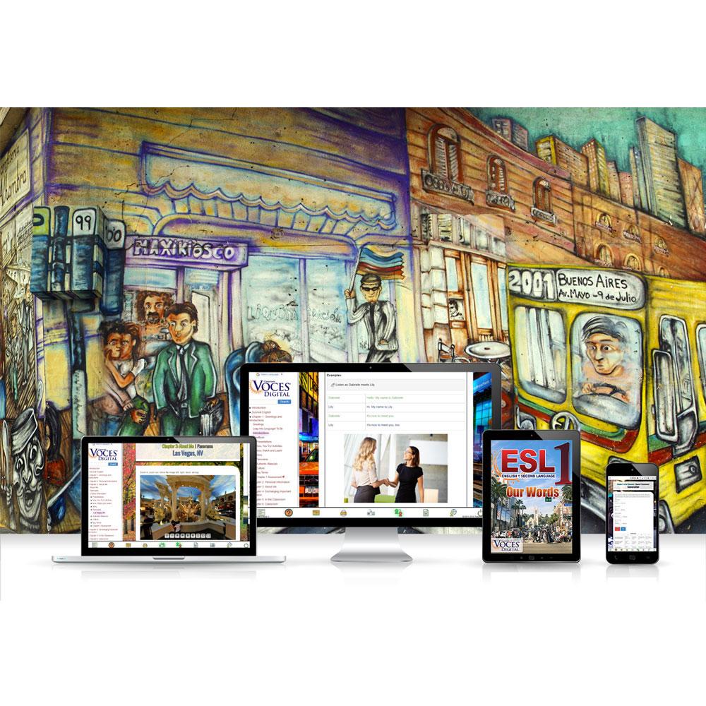 Voces® ESL 1: Our Words Digital Resource Subscription