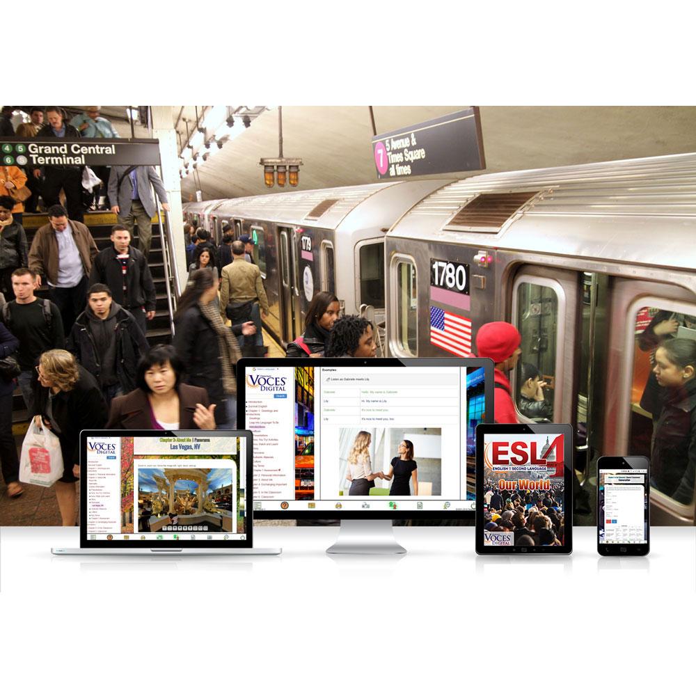 Voces® ESL 4: Our World Digital Resource Subscription