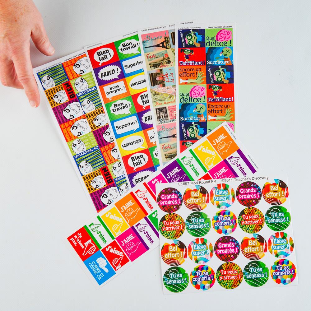 Sampler French Sticker Pack (420)