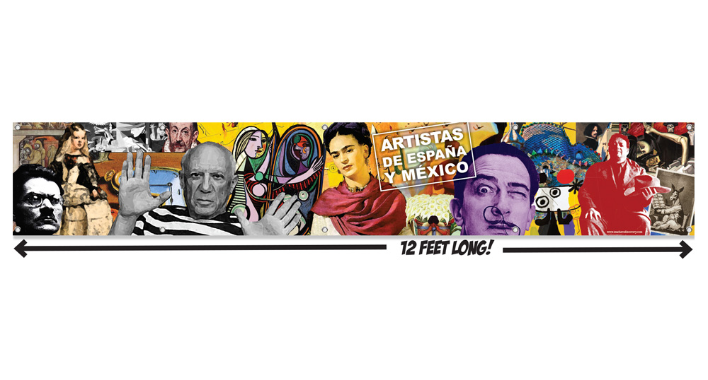 Artists of Spain and Mexico Vinyl Wall Mural