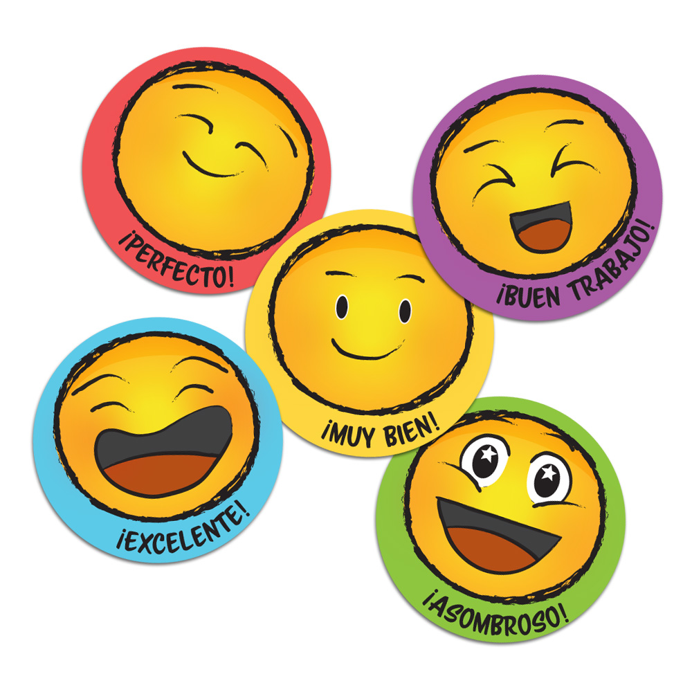 Smile Spanish Stickers