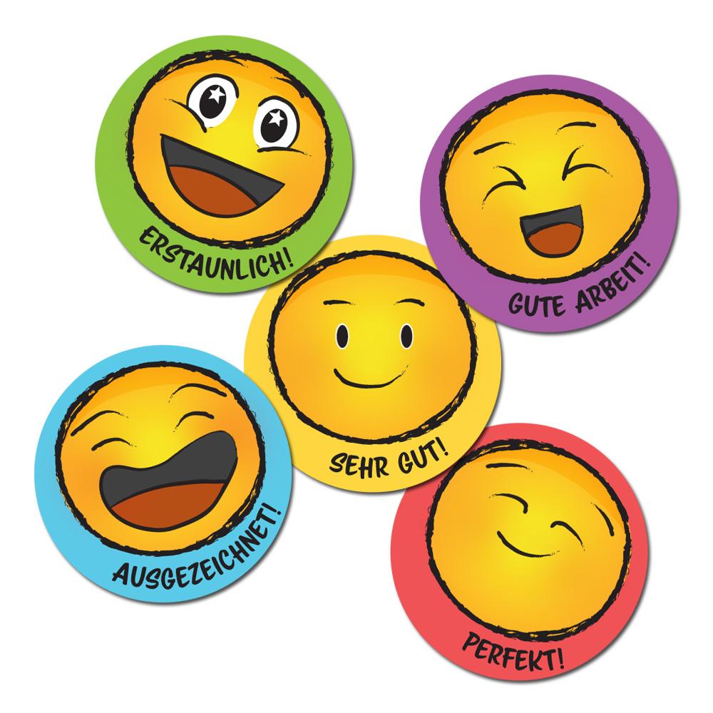Smile German Stickers