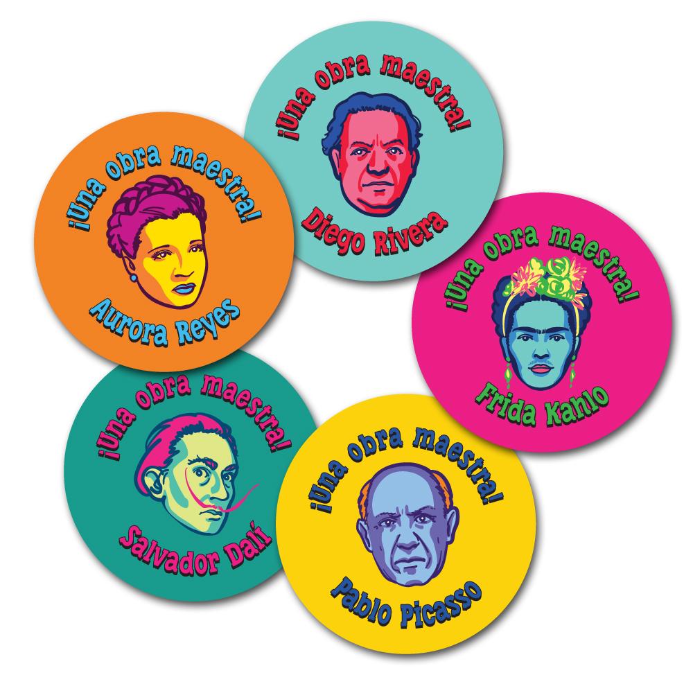 Hispanic Artist Spanish Stickers