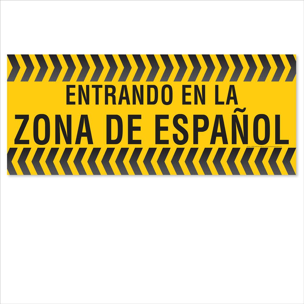 Entering the Spanish Zone Floor Sticker