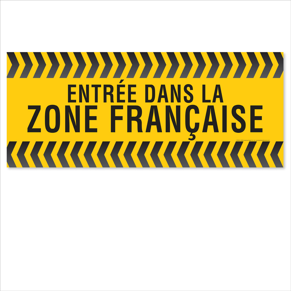 Entering the French Zone Floor Sticker