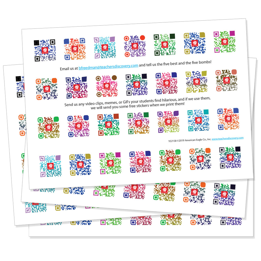 QR Code Spanish Affirmation Stickers - Pack of 300