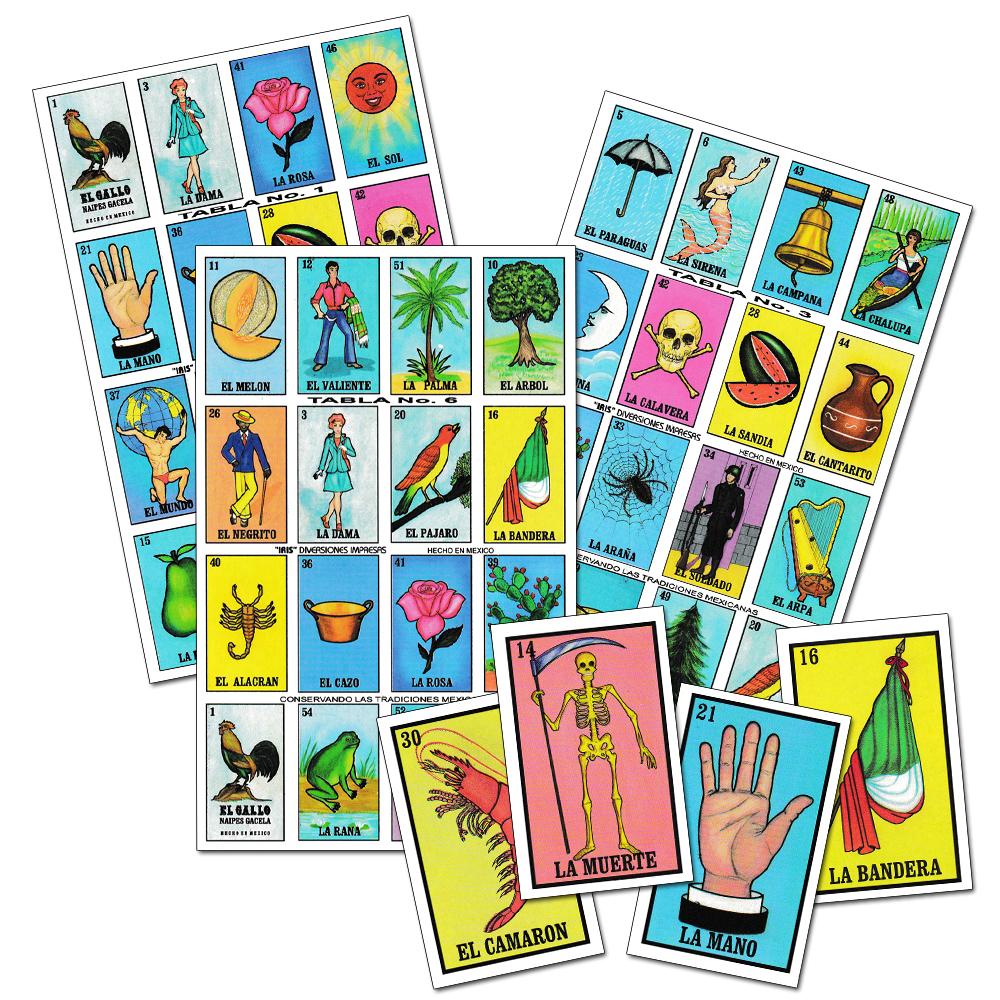 Lotería mexicana pequeño Spanish Game