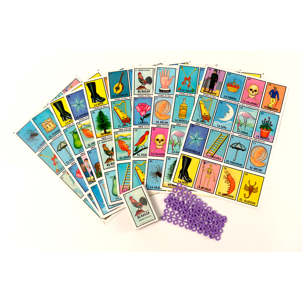Lotería mexicana grande Spanish Game