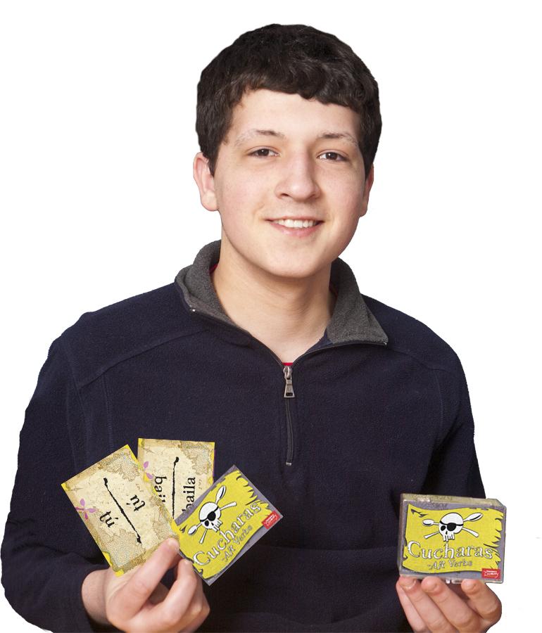 Cucharas Spanish Verb Card Games