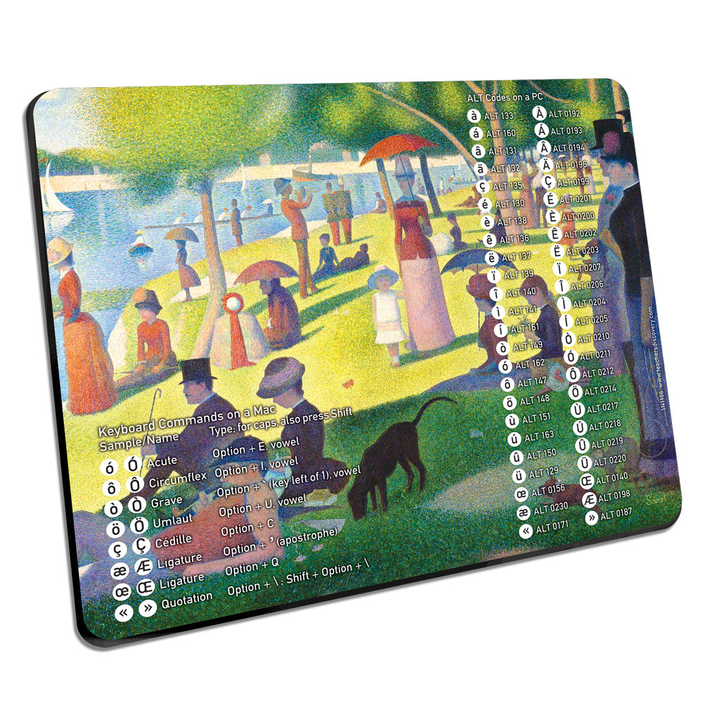 French Accent Mouse Pad