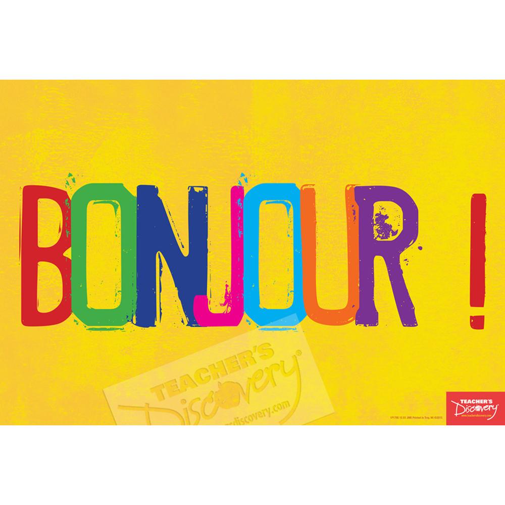 Hello French Mini-Poster
