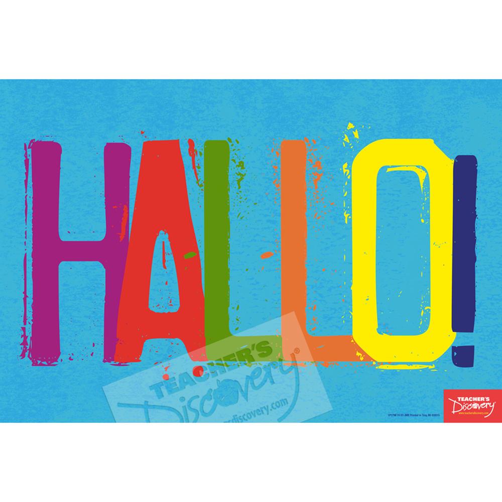 Hello German Mini-Poster