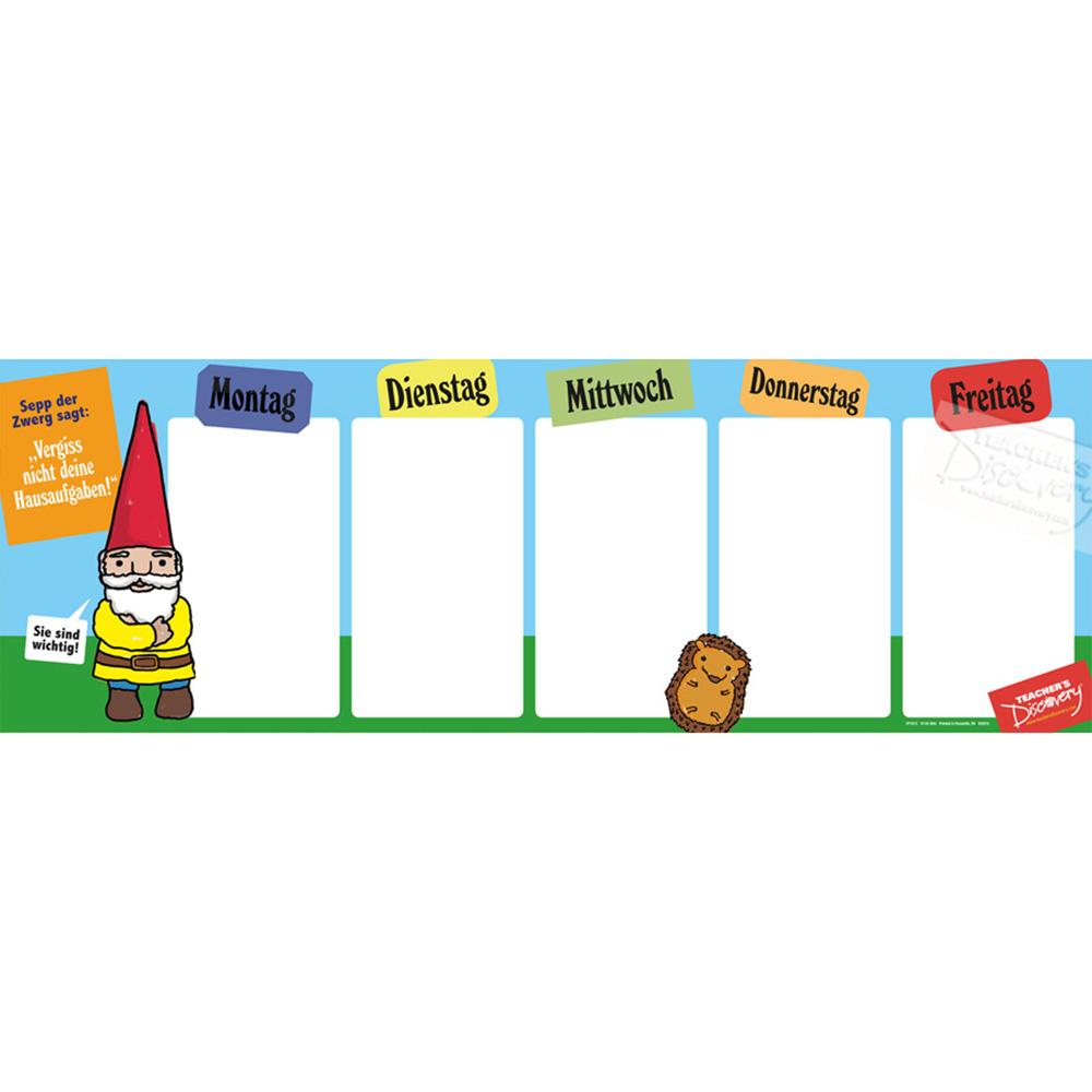 Week German Homework Chart