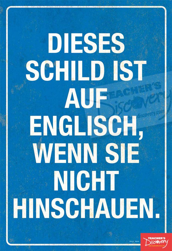 Not Looking German Mini-Poster