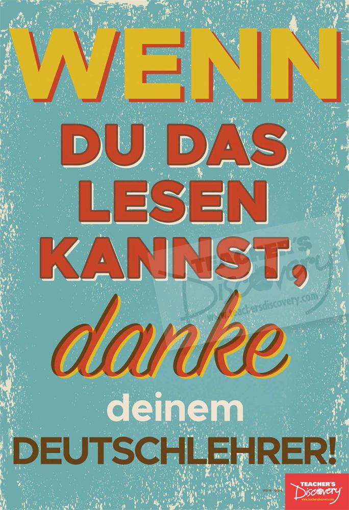 Thank Your Teacher German Mini-Poster