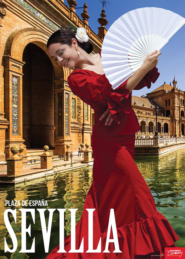 Sevilla, Plaza de España Spanish Travel Poster