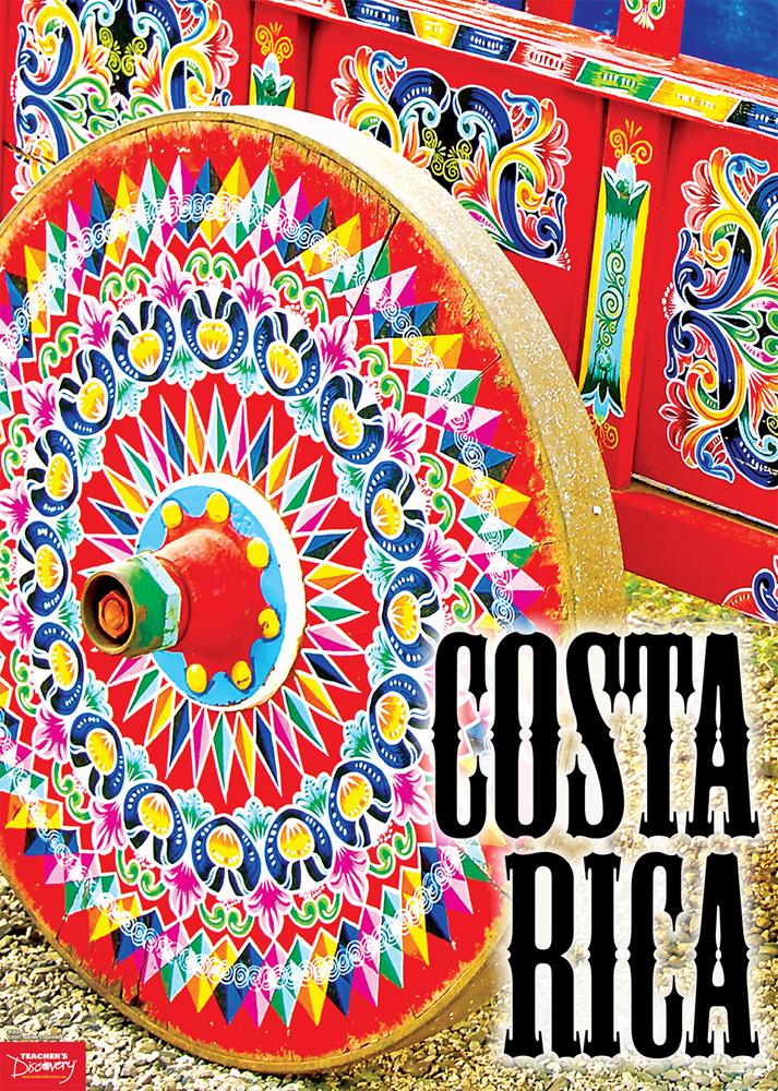 Costa Rica, Ox Cart Spanish Travel Poster