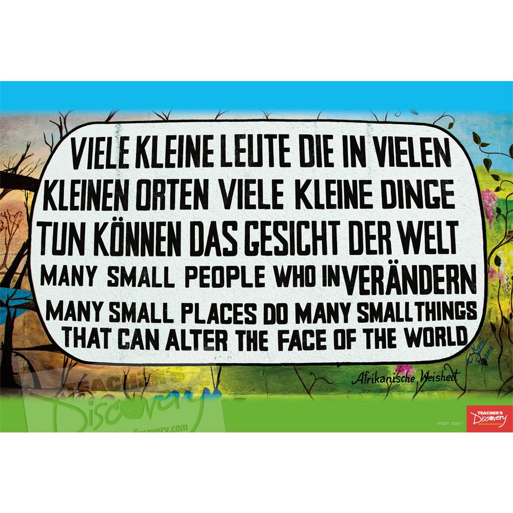 Berlin Wall Graffiti German Mini-Poster
