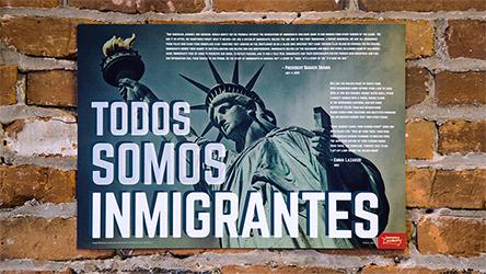 We Are Immigrants Spanish Mini-Poster