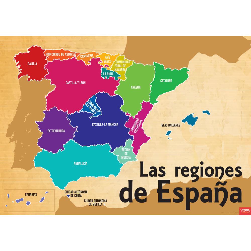 Regions of Spain Poster