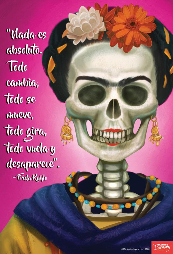 Frida Kahlo Día de los Muertos Mini-Poster