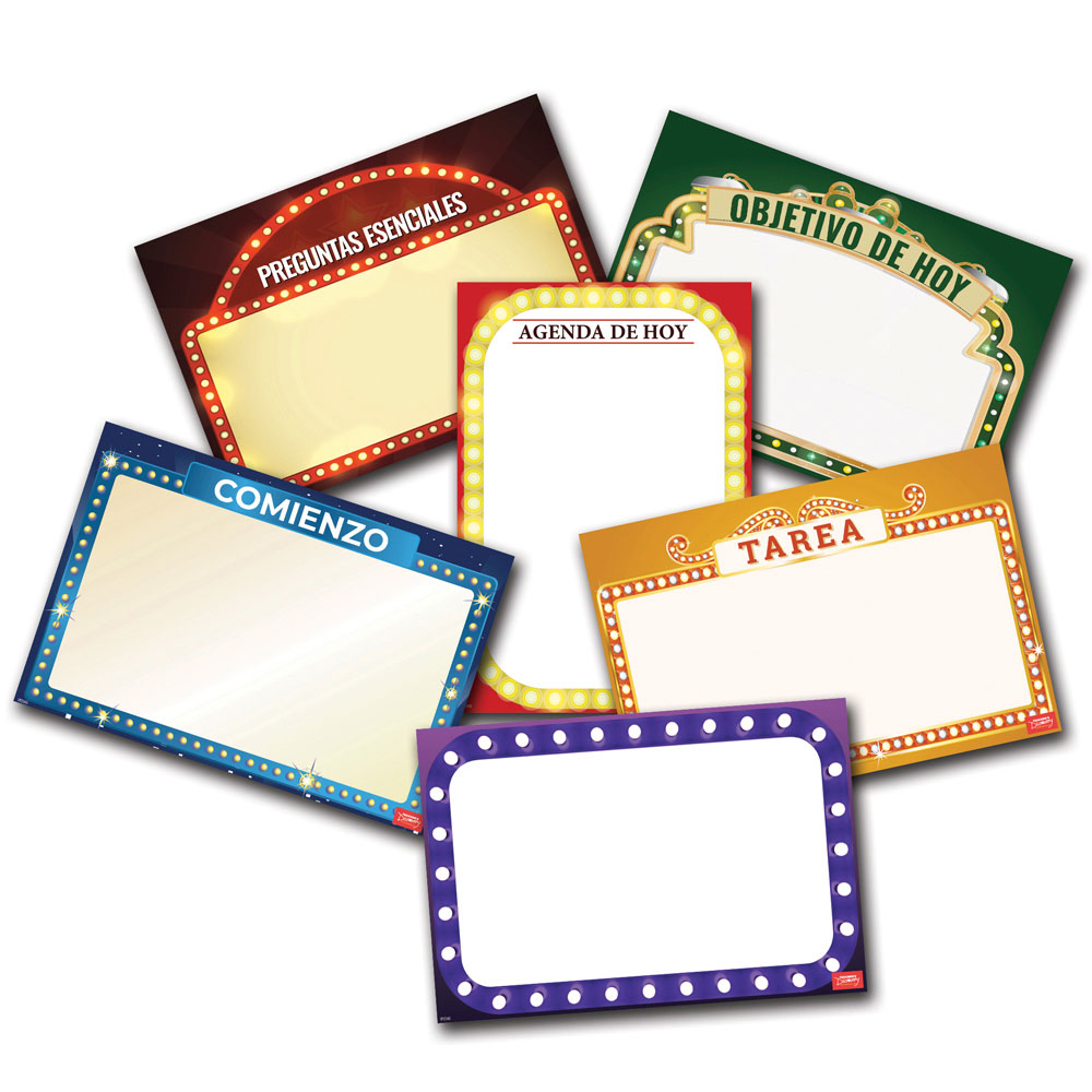 Essential Classroom Spanish Dry-Erase Posters - Set of 6