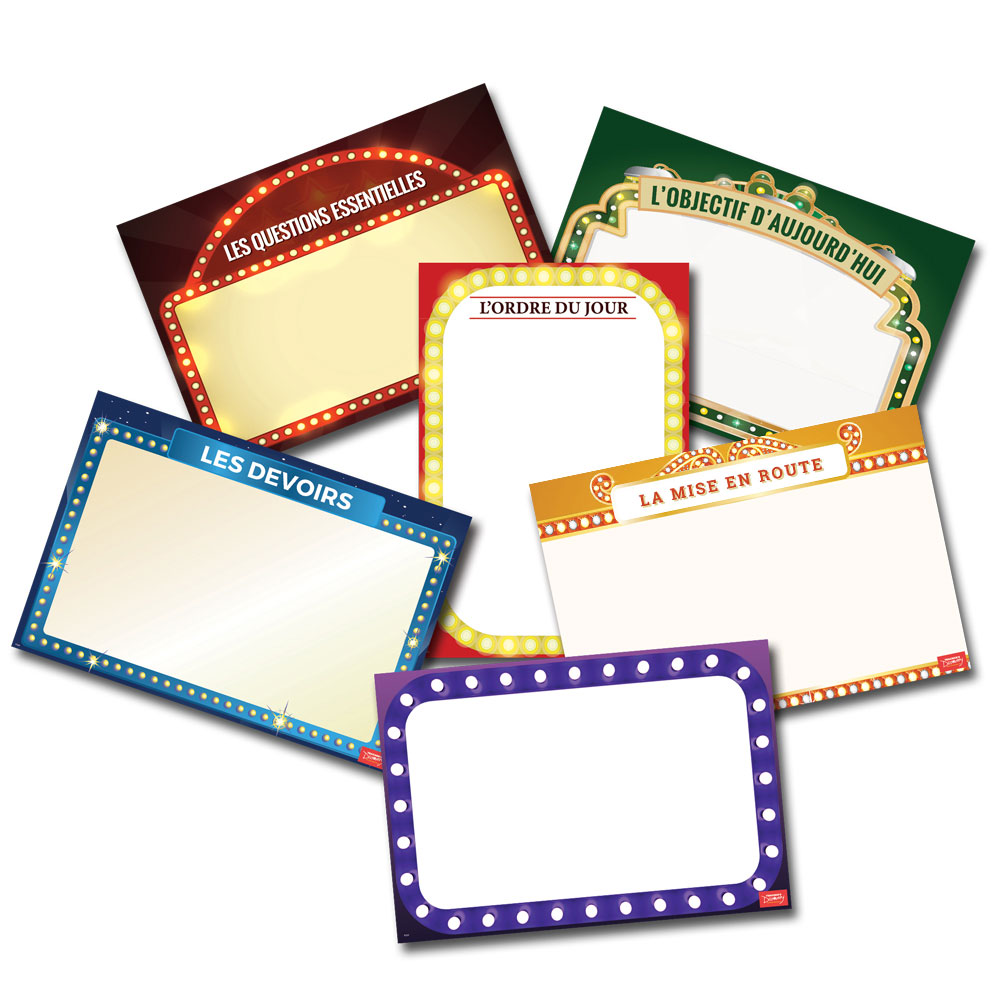 Essential Classroom French Dry-Erase Posters - Set of 6