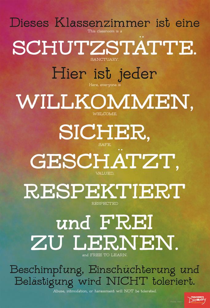 Classroom Sanctuary German Mini-Poster