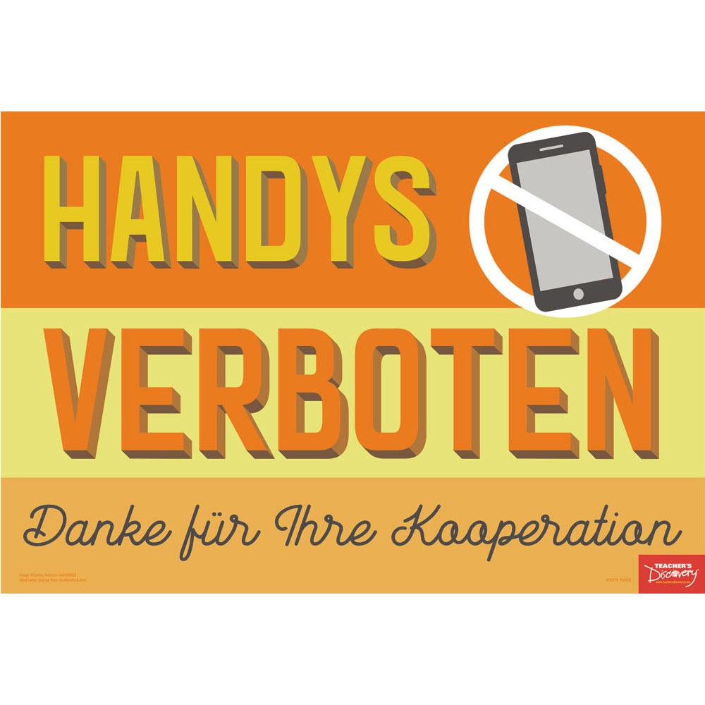 No Cell Phones German Mini-Poster