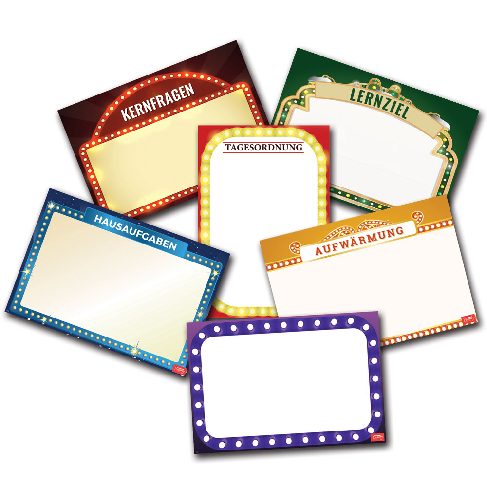 Essential Classroom German Dry-Erase Posters - Set of 6