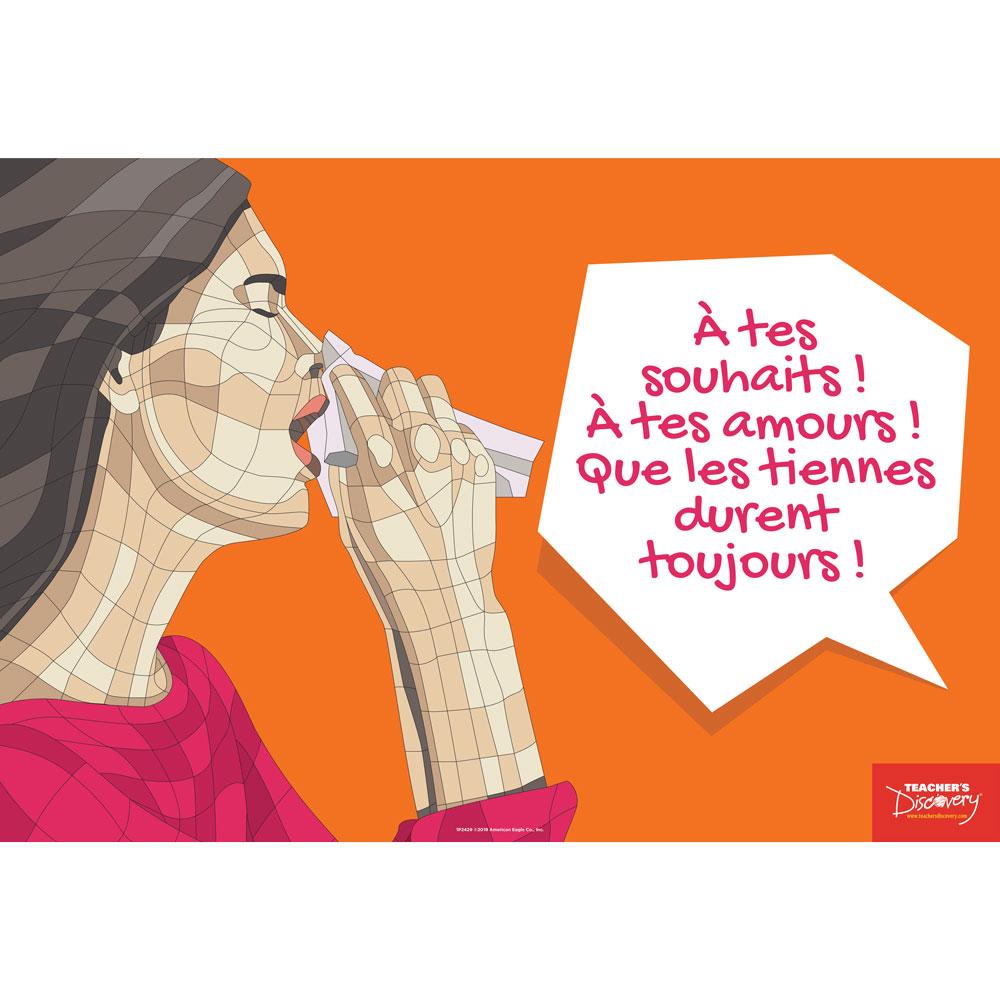 Sneezes Idiom French Mini-Poster