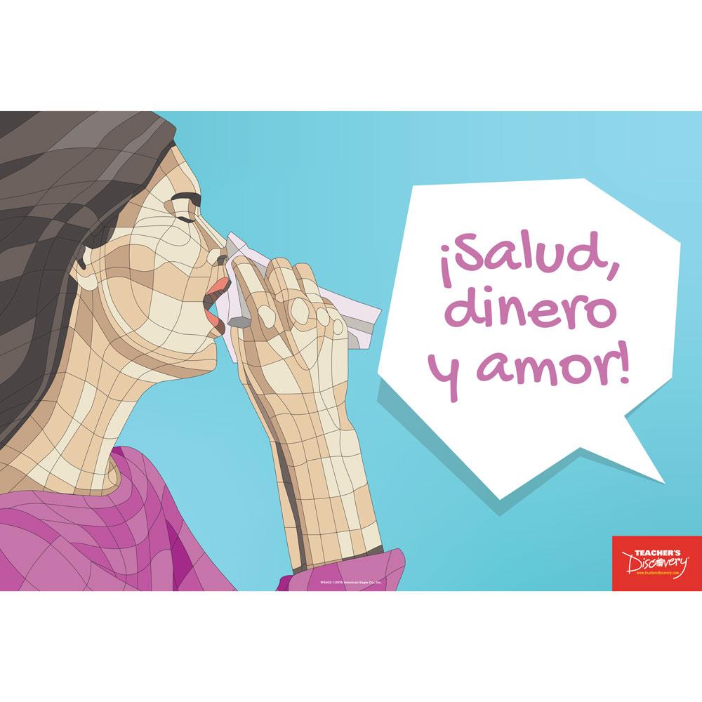 Sneezes Idiom Spanish Mini-Poster