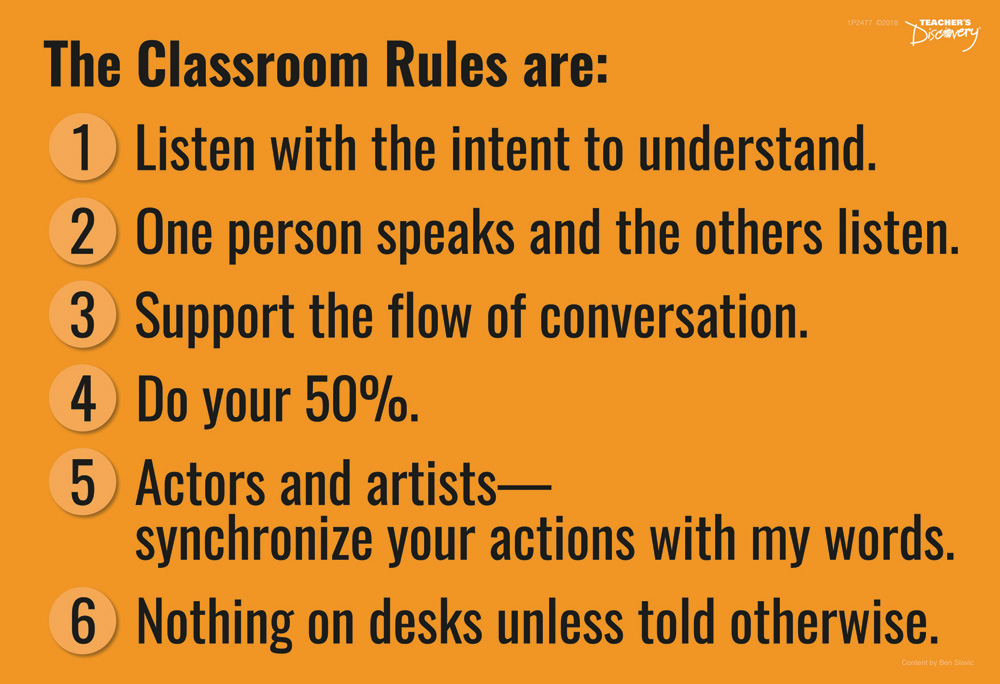 Ben's Classroom Rules Sign