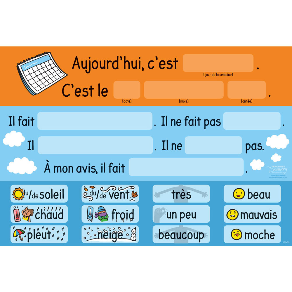 Tina's Weather Station French Chart