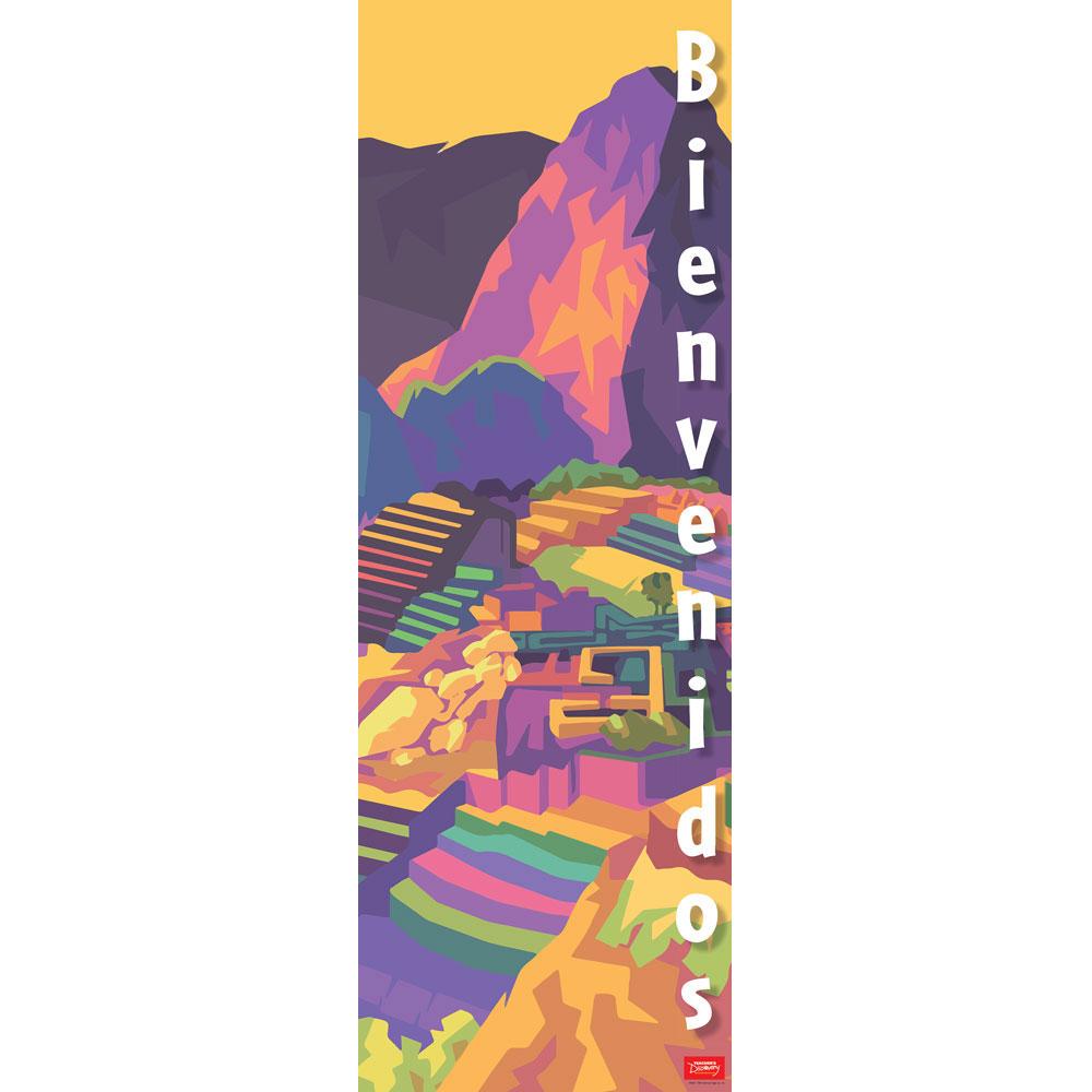 Machu Picchu Bienvenidos Skinny Poster