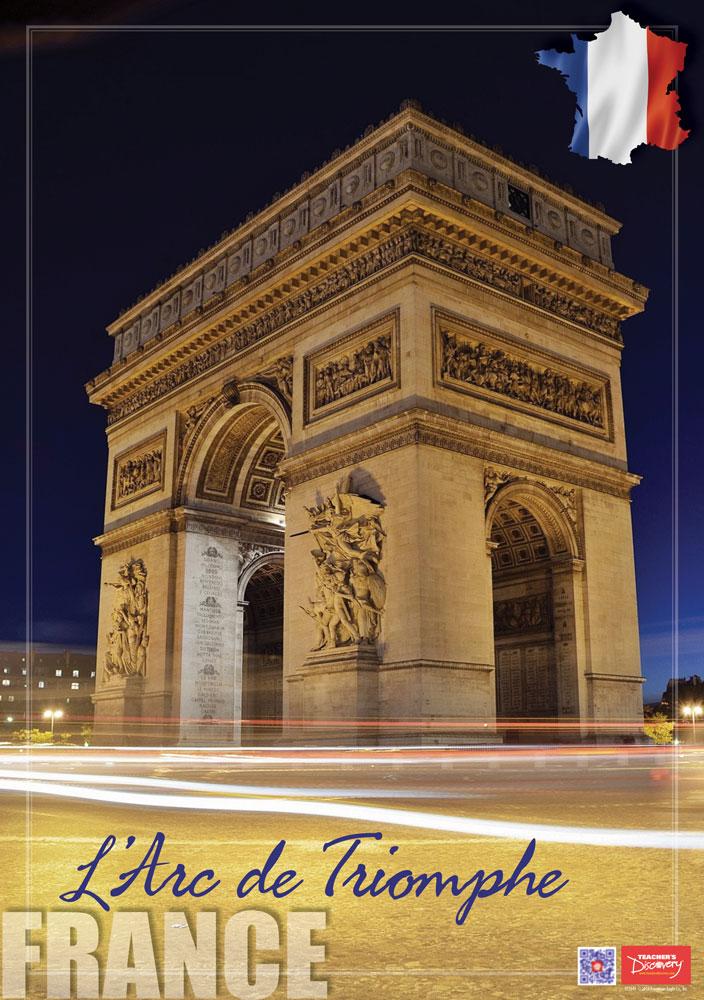 France L'Arc de Triomphe Enhanced® French Travel Poster