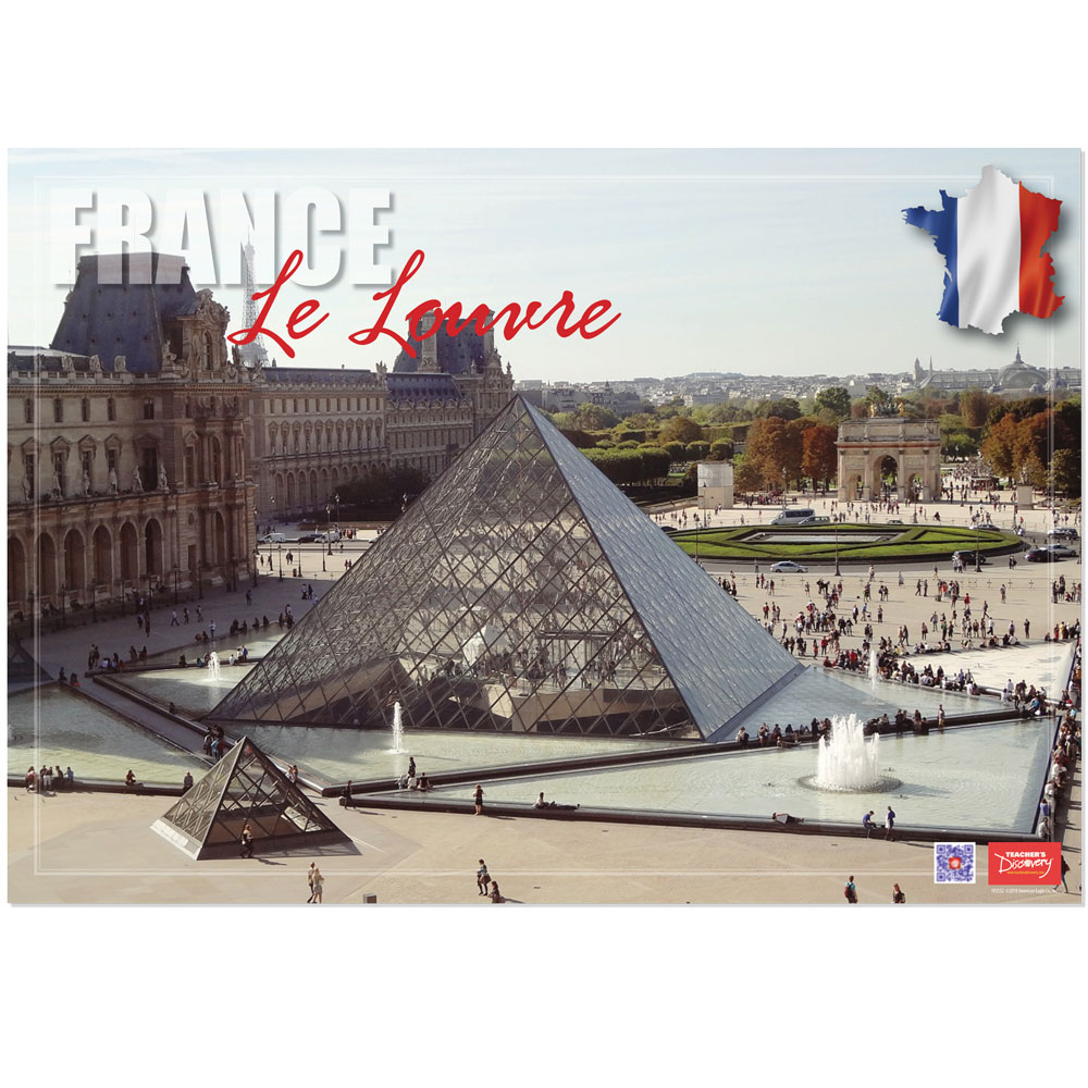 France Le Louvre Enhanced® French Travel Poster